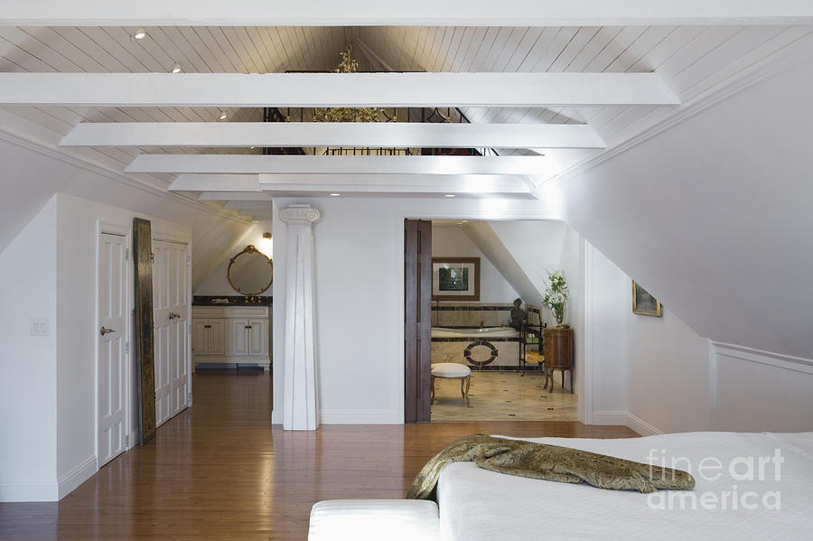 Beams Photograph   Vaulted Ceiling Bedroom By Andersen Ross