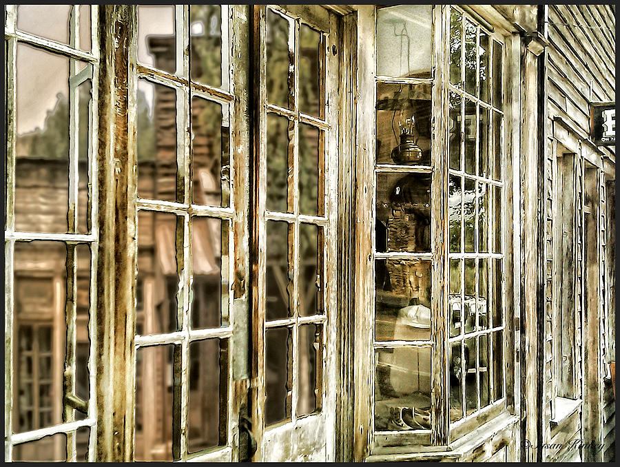 Ghost Town Photograph - Vc Window Reflection by Susan Kinney