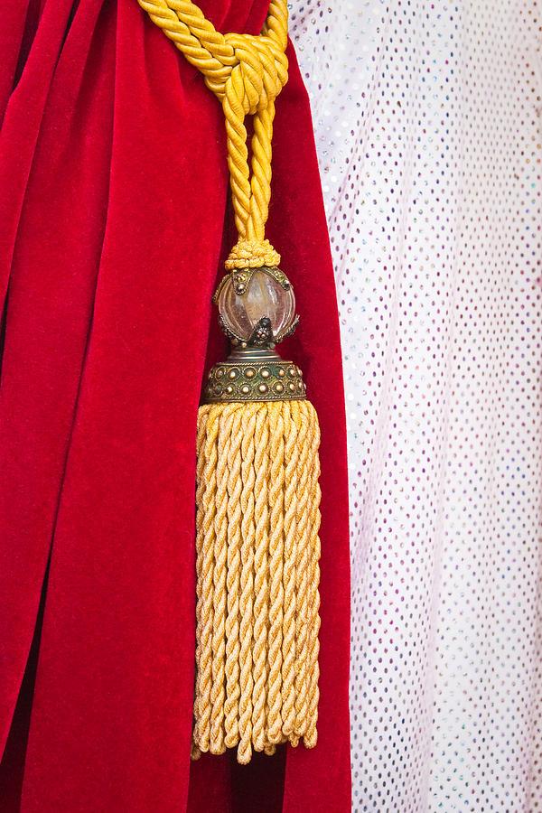 Cloth Photograph - Velvet Curtain by Tom Gowanlock