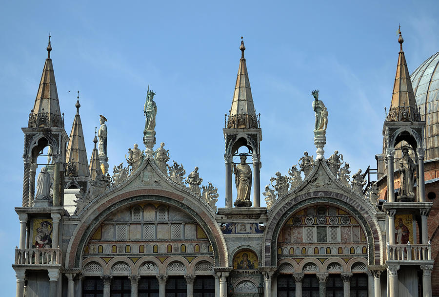 St Marks Photograph - Venetian Architecture. by Terence Davis