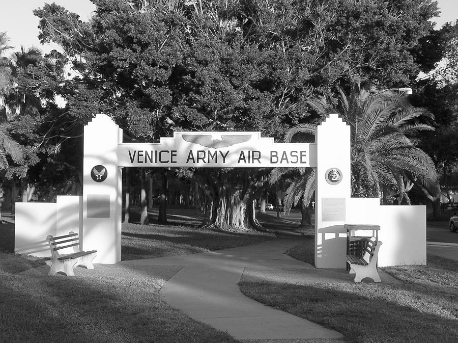 Air Base Photograph - Venice Army Air Base Entrance by John Myers