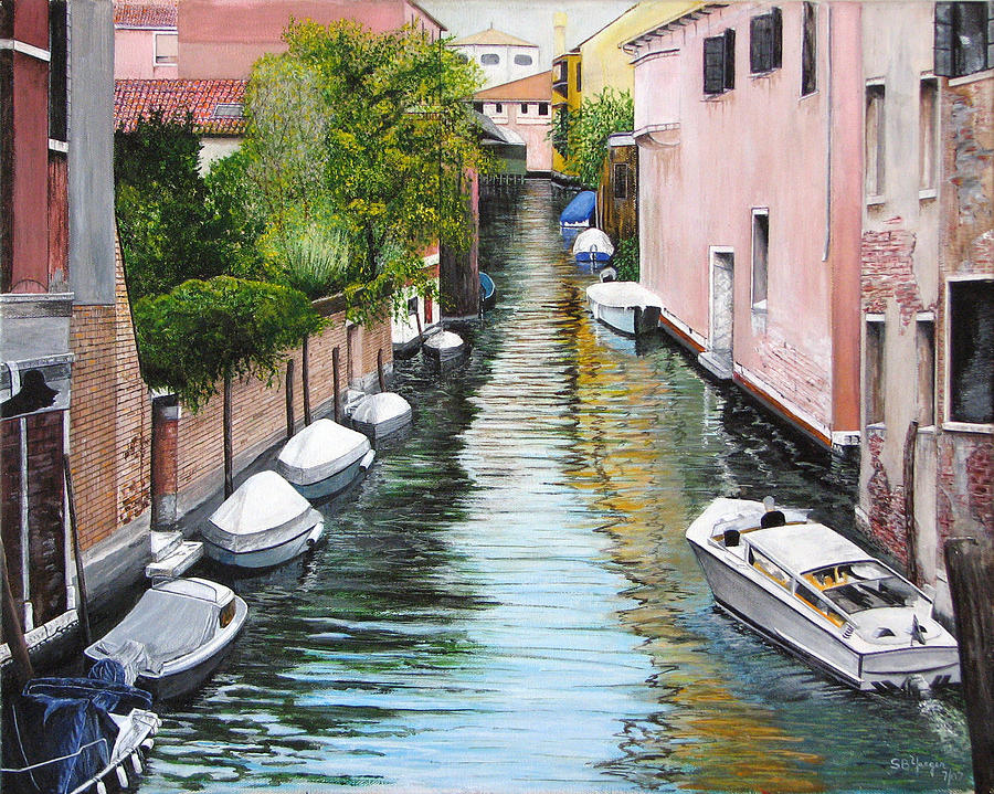 Painting - Venice Canal by Stuart B Yaeger