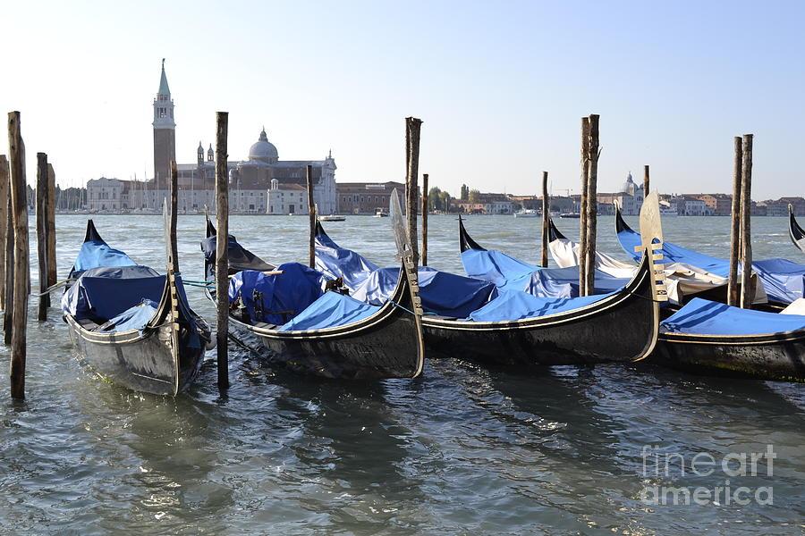 Gondolas Photograph - Venice Gondolas by Rebecca Margraf