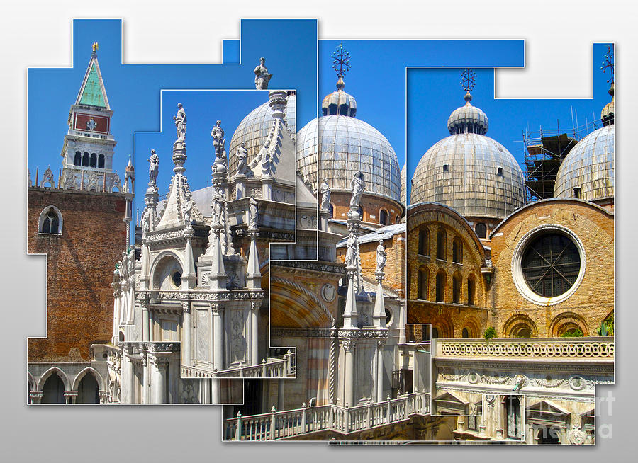 Venice Italy Painting - Venice Italy - Cathedral Basilica Of Saint Mark by Gregory Dyer