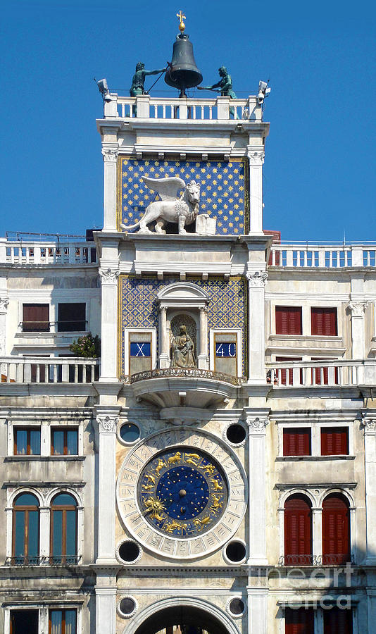 Venice Italy Painting - Venice Italy - Clock Tower by Gregory Dyer
