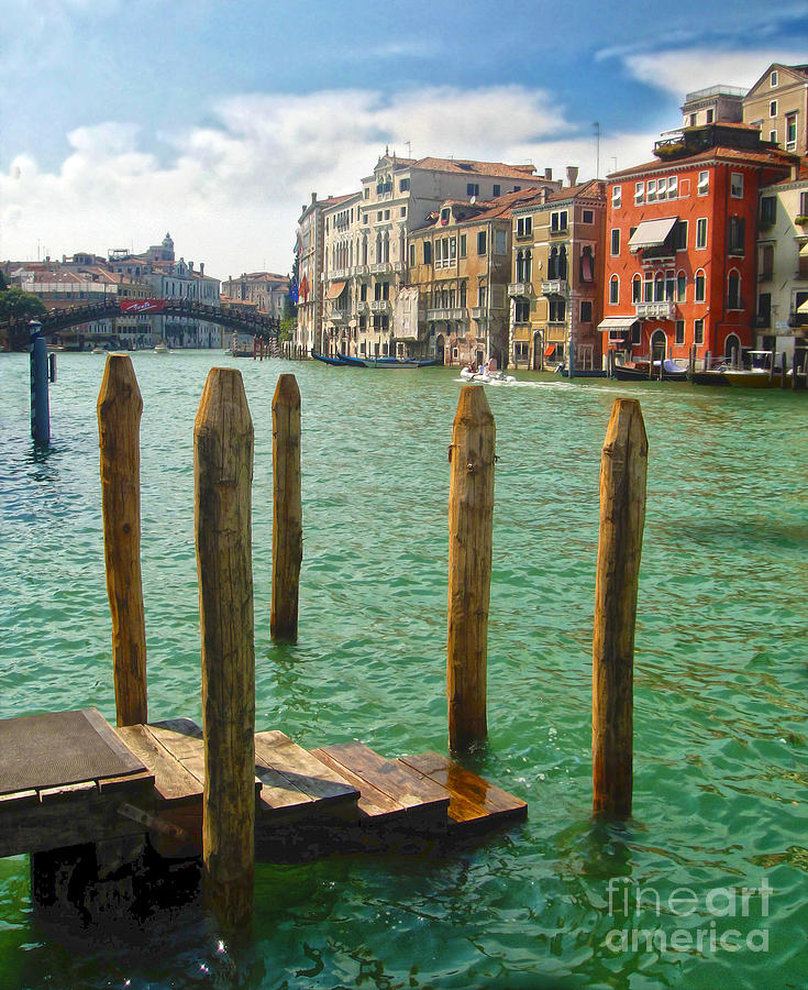 Venice Italy Painting - Venice Italy - Grand Canal View by Gregory Dyer