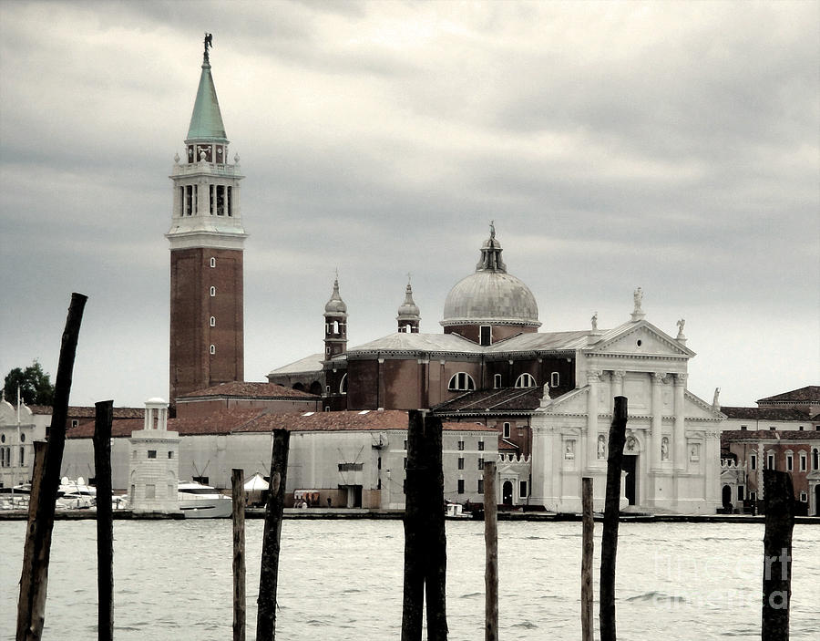 Venice Italy Painting - Venice Italy - San Giorgio Maggiore Island - 02 by Gregory Dyer