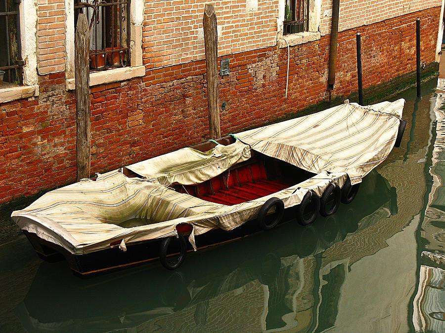 Boat Photograph - Venice Italy Fine Art Print by Ian Stevenson