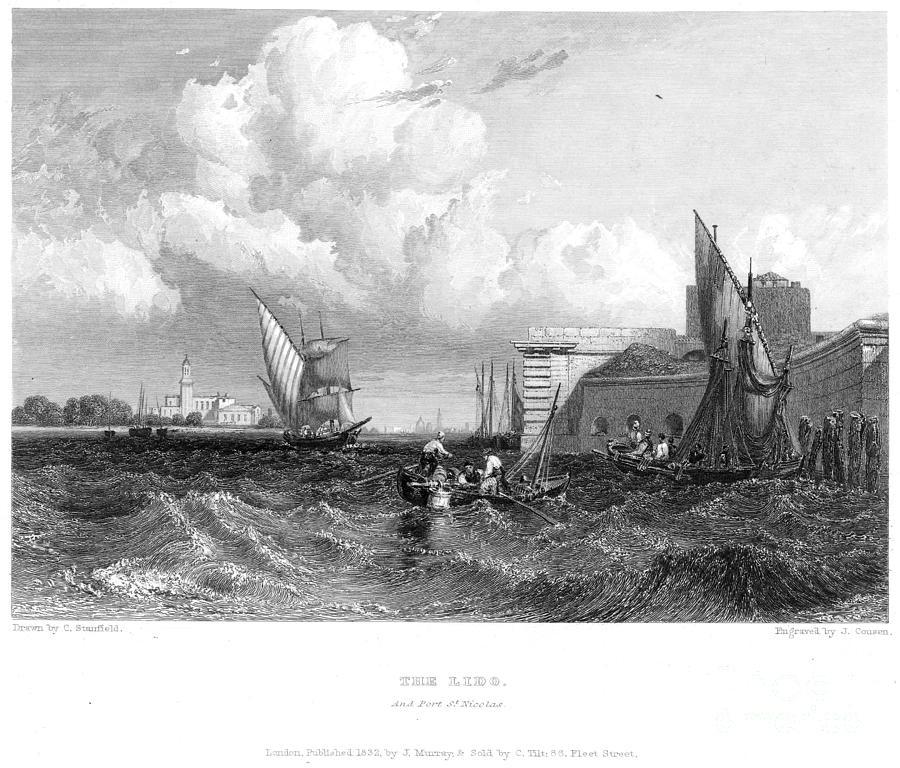 1833 Photograph - Venice: Lido, 1833 by Granger