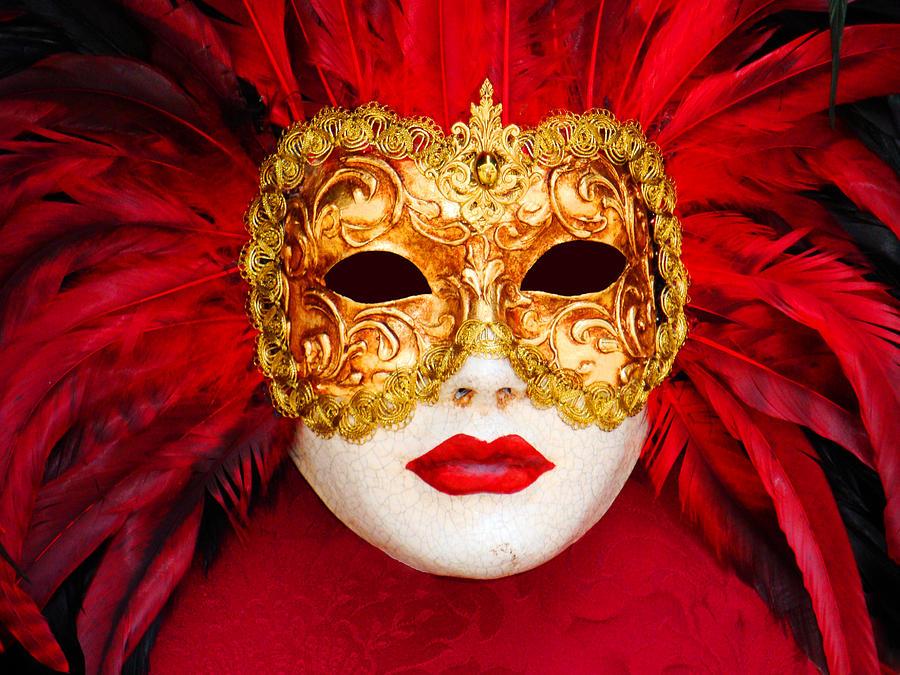 venice mask digital art by mark oconnell