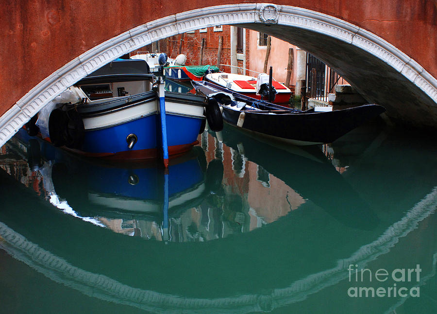 Italy Photograph - Venice Reflections 2 by Bob Christopher