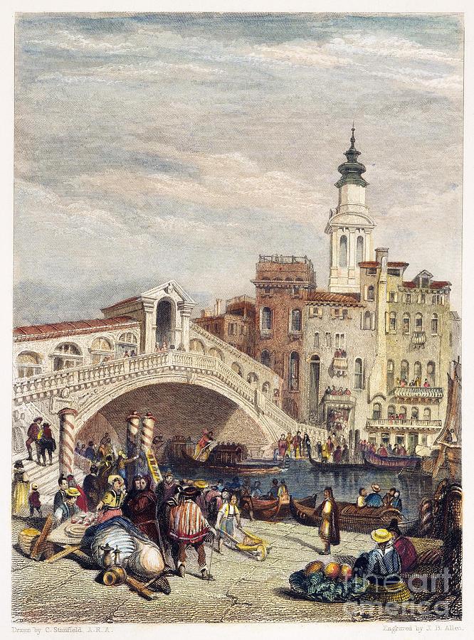 1833 Photograph - Venice: Rialto, 1833 by Granger