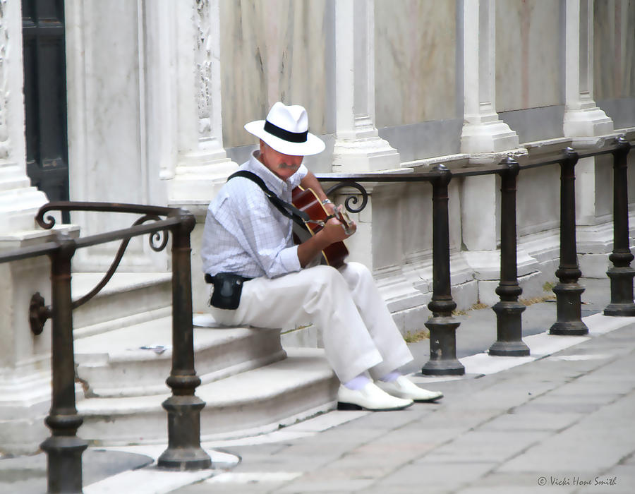 Venice Street Musician by VICKI HONE SMITH