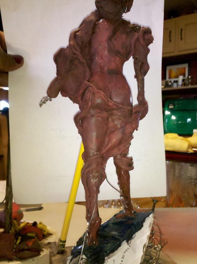 Figure Sculpture - Venus Draped by Antonio Guerrero