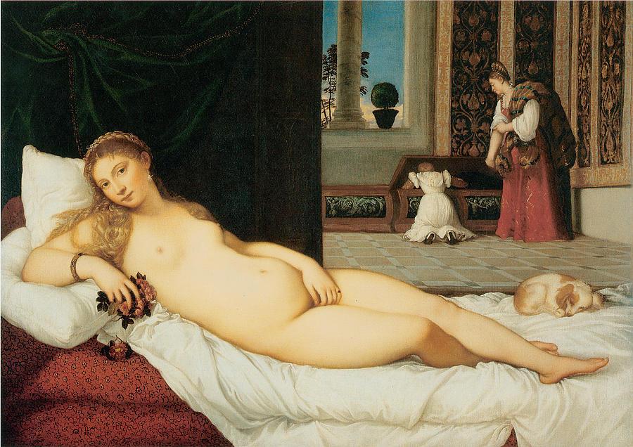 Venus Of Urbino Painting by Titian