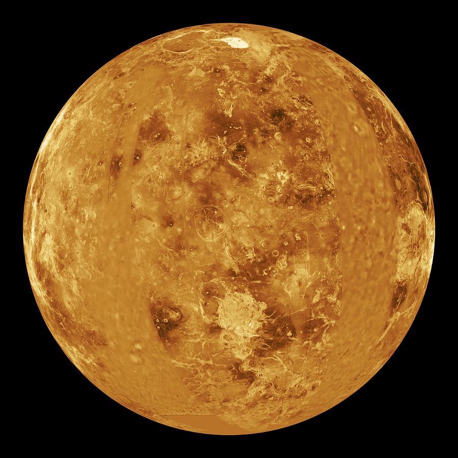 Maxwell Montes Photograph - Venus, Radar Map by Jplnasa