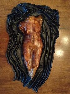 Leather Sculpture - Venussa by Leather Sculptor Paula Orrego Pizarro