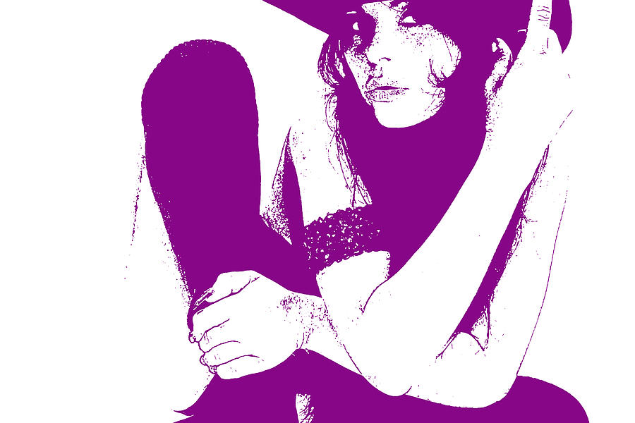 Texas Digital Art - Vera Purple by Naxart Studio