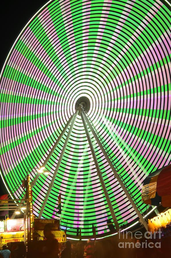 Ferris Wheel Photograph - Verdego by Lynda Dawson-Youngclaus