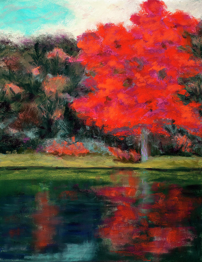 Vermillion Pastel - Vermillion Reflections by Diana Tripp
