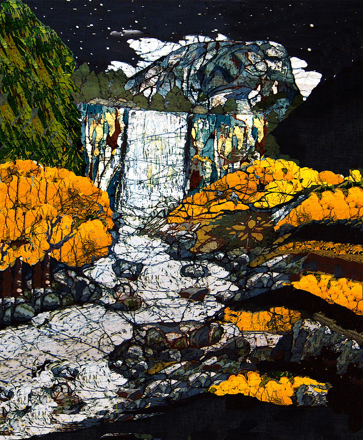 Vernal Falls Tapestry - Textile - Vernal Falls by Alexandra  Sanders