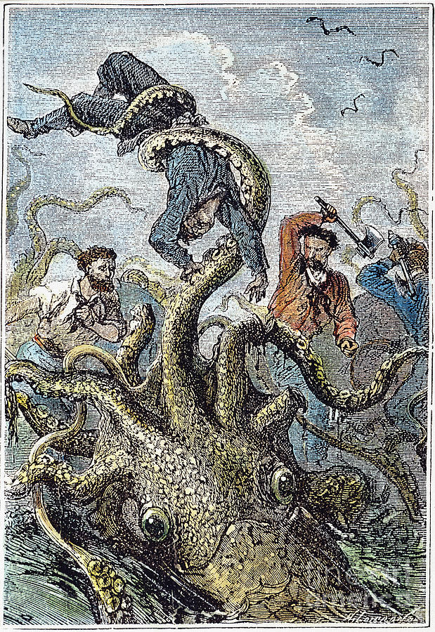 1870 Photograph - Verne: 20,000 Leagues, 1870 by Granger