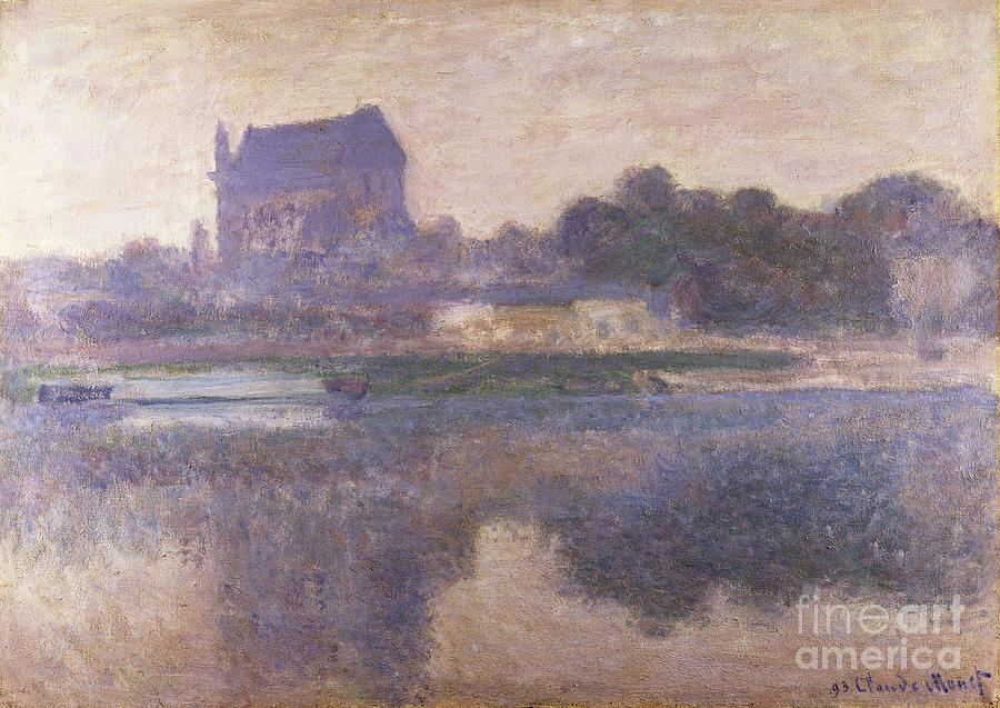 France Painting - Vernon Church In Fog by Claude Monet