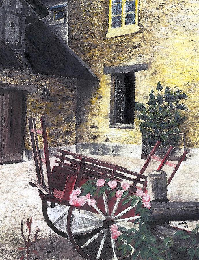 Marie Antoinette's Village Mixed Media - Versailles Peasant Village by Inger Hutton