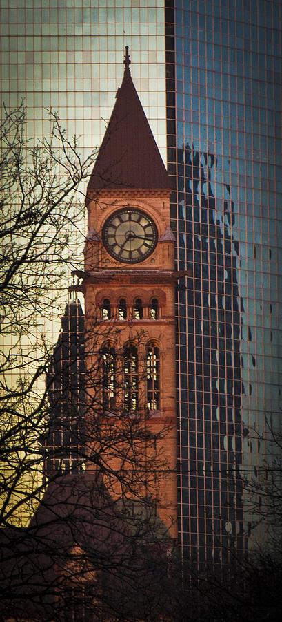 Clock Tower Photograph - Versus by Milan Kalkan
