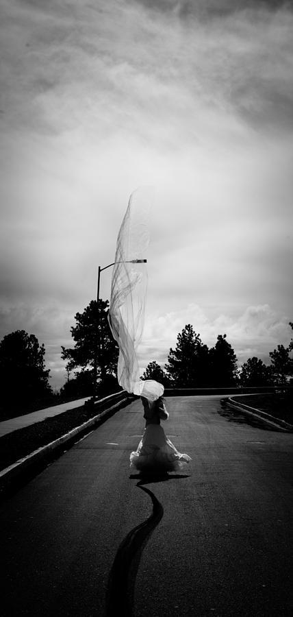 Cloth Photograph - Vertical Cloth Wind  by Scott Sawyer