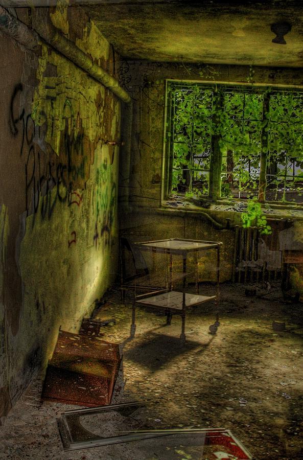 Abandoned Photograph - Vertigo Of Insanity  by Heather  Boyd