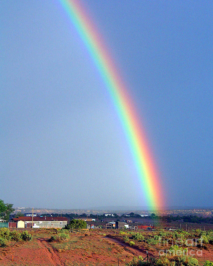 Rainbow Photograph - Very Bright Arizona Rainbow by Merton Allen
