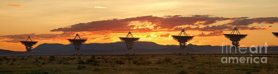 Satellite Dish Photograph - Very Large Array At Sunset by Matt Tilghman