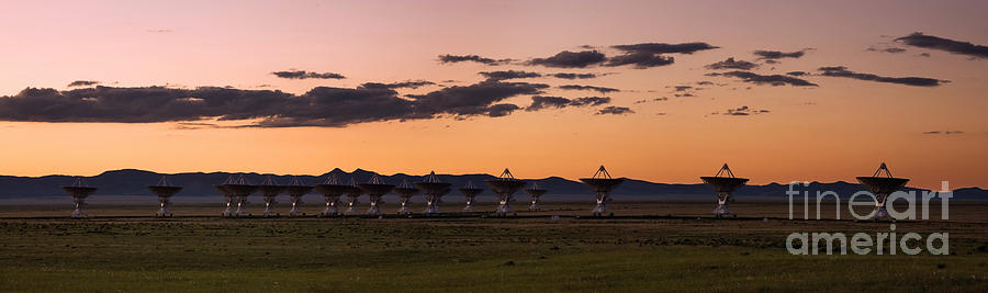 Satellite Dish Photograph - Very Large Array Panorama by Matt Tilghman