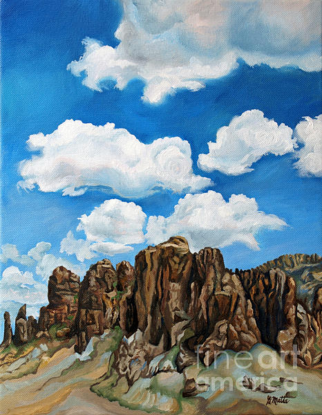 Landscape Painting - Very superstitious by Gretchen Matta