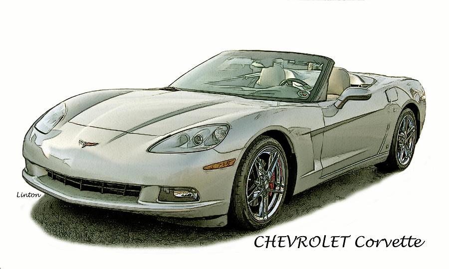 Chevrolet Corvette Digital Art - Vette by Larry Linton