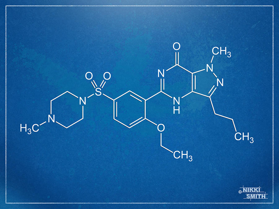Viagra molecular structure blueprint digital art by nikki marie smith viagra digital art viagra molecular structure blueprint by nikki marie smith malvernweather Image collections