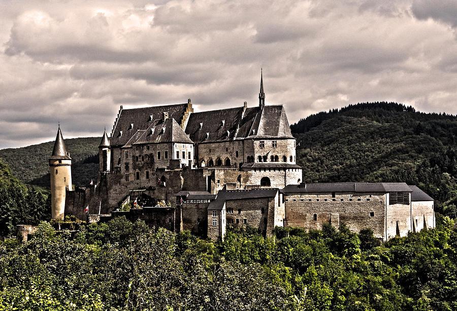 Europe Photograph - Vianden Castle - Luxembourg by Juergen Weiss