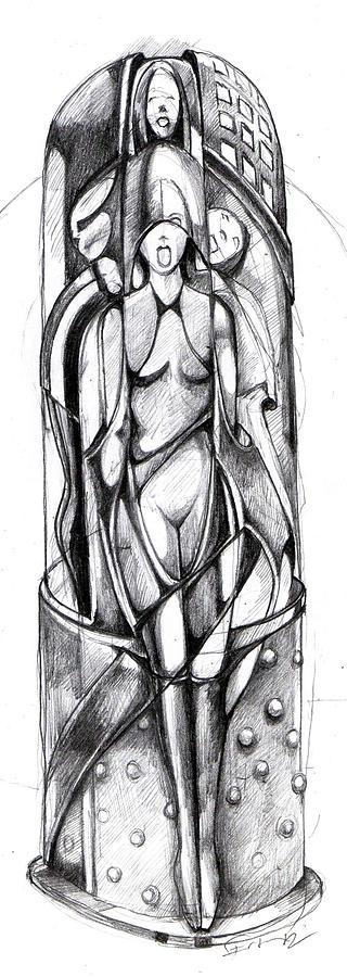 Drawing Drawing - Vibrator by Ertan Aktas