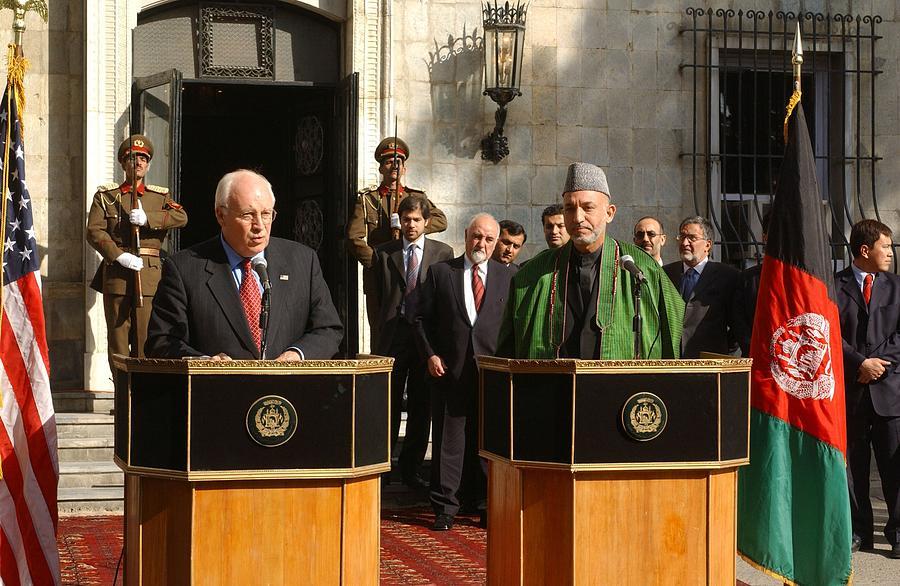 History Photograph - Vice President Richard B. Cheney Left by Everett