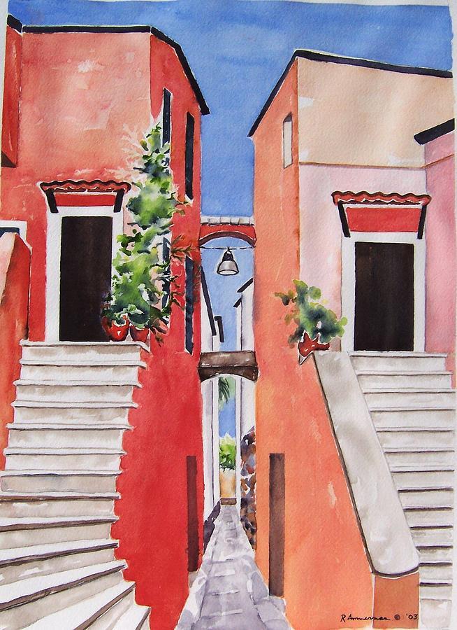 Italian Architecture Painting - Vico Giardini by Regina Ammerman