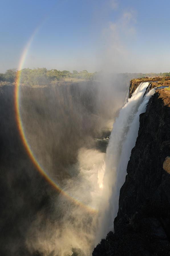 Livingstone Photograph - Victoria Falls by Christian Heeb