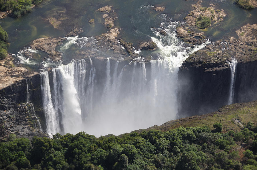 Aerial View Photograph - Victoria Falls II by Christian Heeb