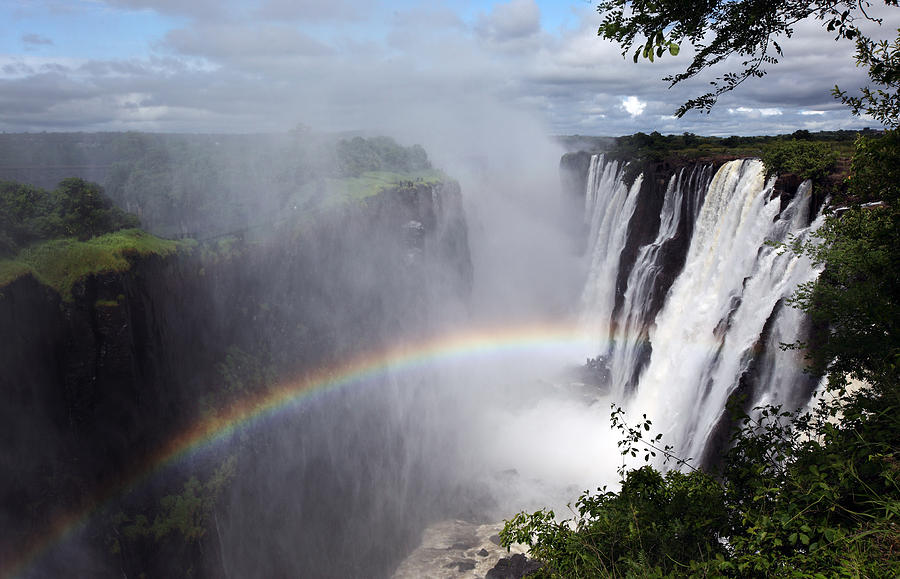 Horizontal Photograph - Victoria Falls, Livingstone, Zambia by Dietmar Temps, Cologne
