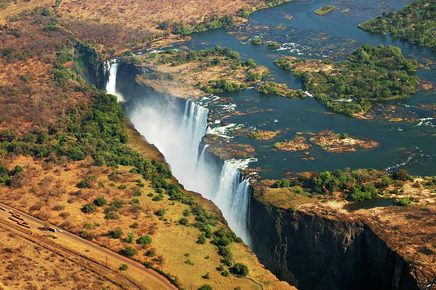 Horizontal Photograph - Victoria Falls, Zambia by © Pascal Boegli
