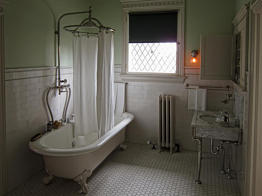 Victorian campbell house bathroom photograph by daniel for Historic bathroom remodel