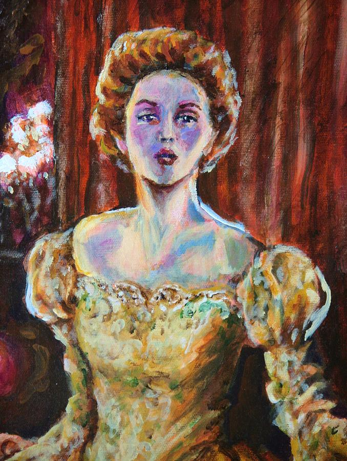 Lady Painting - Victorian Elegance 1 Portrait by Laura Heggestad