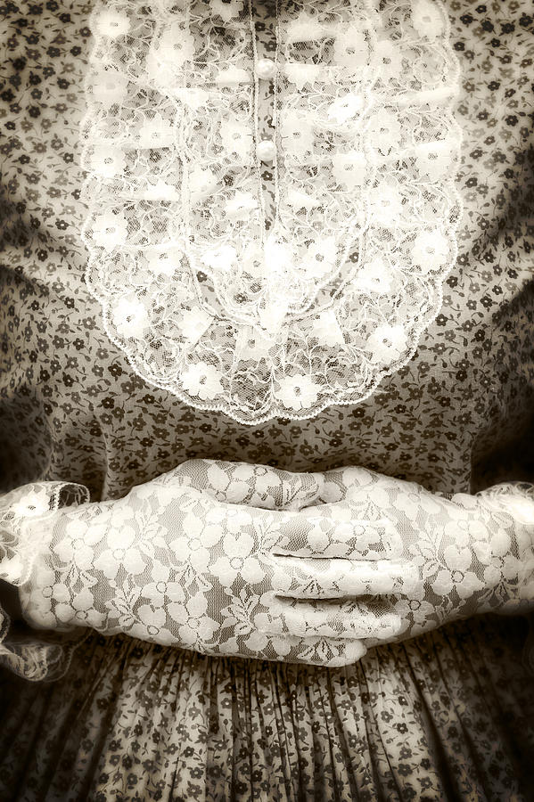 Female Photograph - Victorian Hands by Joana Kruse