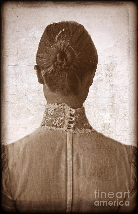 Woman Photograph - Victorian Lady From Behind by Jill Battaglia