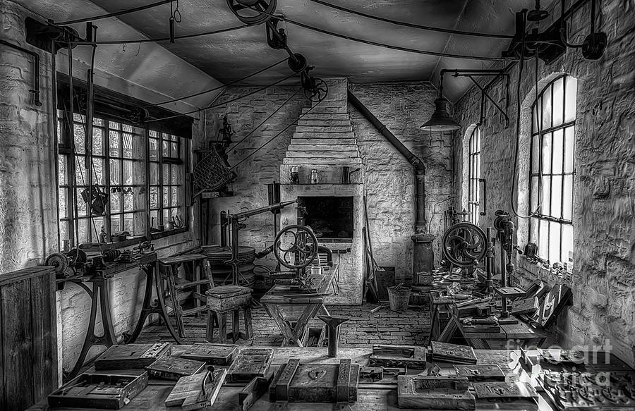 Architecture Photograph - Victorian Locksmiths Workshop by Adrian Evans